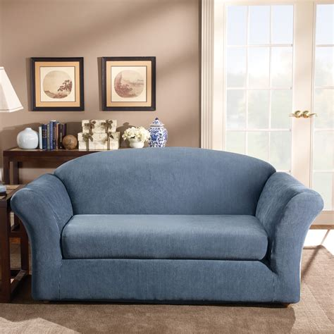 Loveseat Slipcovers by Sure Fit Stretch Stripe Sofa Slipcover Ebay