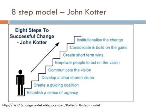 Kotter Steps by Change Management Models Adkar Satir 8 Step Switch