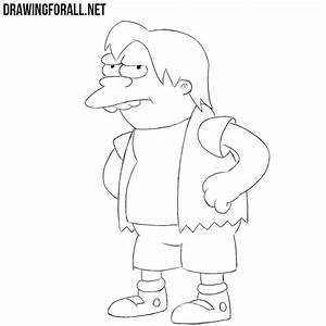 How To Draw Nelson The Simpsons