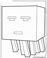 Minecraft Coloring Ghast Craft Mine Printable Scribblefun Cartoon Mobs Nether Silverfish Let sketch template
