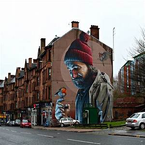 Nouvelle peinture murale photorealiste de smug a glasgow for Nouvelle peinture murale