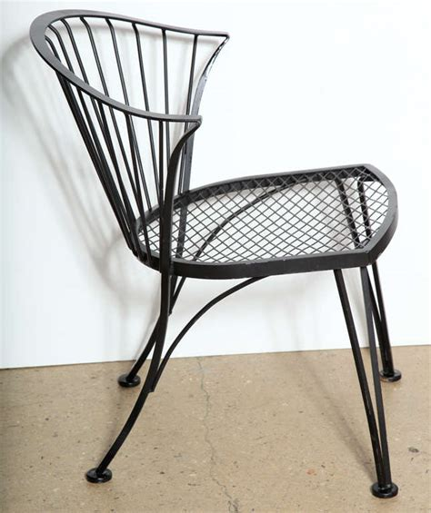 set of 4 woodard wrought iron chairs at 1stdibs
