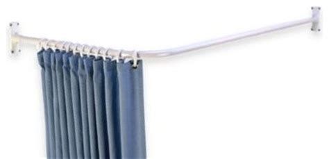 l shaped corner shower rod contemporary shower curtain