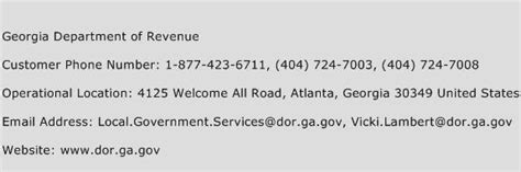 revenue service phone number department of revenue customer service phone