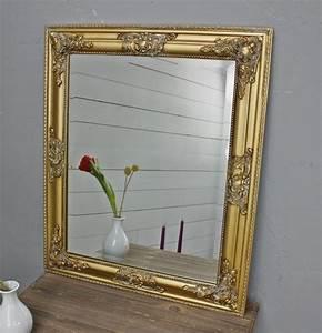 Barock Spiegel Groß : spiegel 62x52 cm wandspiegel barock gold holz landhaus holzrahmen badspiegel ebay ~ Whattoseeinmadrid.com Haus und Dekorationen
