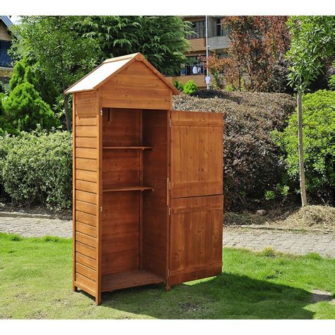 From The Shed by Outsunny Wooden Shed Timber Garden Storage On Onbuy