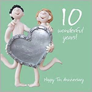 tenth wedding anniversary 10th wedding anniversary card co uk kitchen home