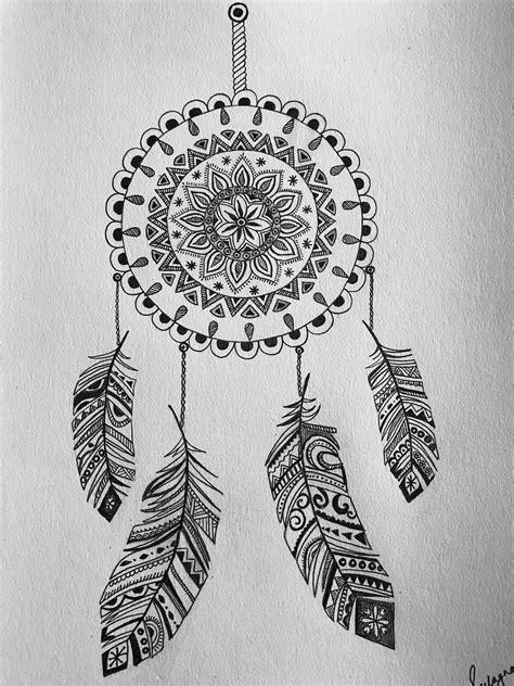 Pin by Sulagna on My art works | Dreamcatcher tattoo, Art