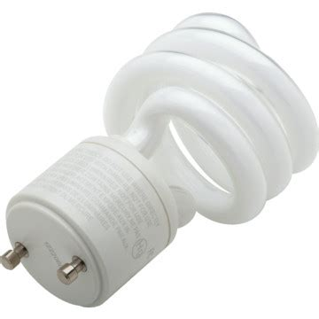 integrated compact fluorescent bulb tcp 18w 2700k twist