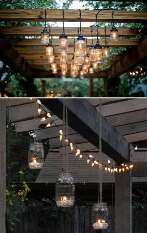 original ideas adding diy backyard lighting  garden