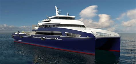 Large Catamaran Cost by Incat Crowther To Build 70m Catamaran Fast Crew Boat