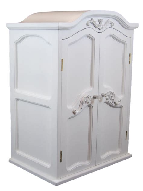 "Victorian Wardrobe Armoire Storage Trunk For 18"" American"