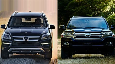 Merced Toyota by 2016 Mercedes Gl Class Vs 2016 Toyota Land Cruiser