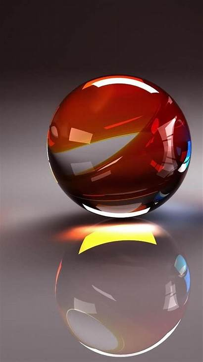 3d Ball Iphone Android Transparent Wallpapers Crystal