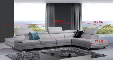 canapé dimensions canapé d 39 angle en cuir véritable siena pop design fr
