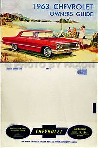 1963 Chevy Owners Manual With Envelope Ss Impala Bel Air