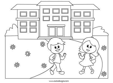 disegni da colorare per bambini scuola primaria bambini vanno a scuola da colorare tuttodisegni