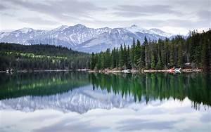 Pyramid, Lake, In, Jasper, National, Park, Alberta, Canada, Water