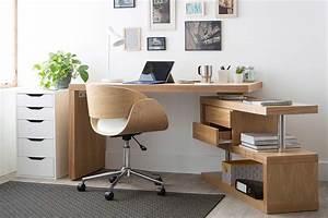 Bureau Design Bois Amovible MAX Miliboo