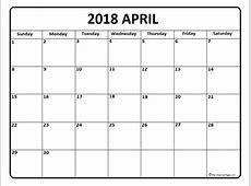 April 2018 Calendar calendar for 2019