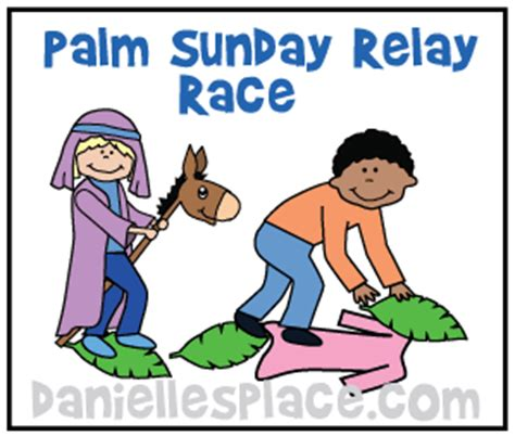 palm sunday crafts and activities 855 | donkey palm branch relay game