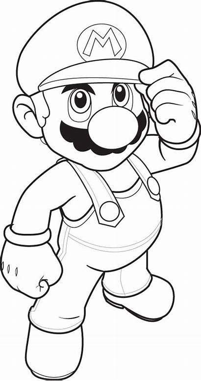Coloring Mario Pages Super