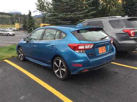subaru impreza hatchback spied in the wild 2017 subaru impreza hatchback the