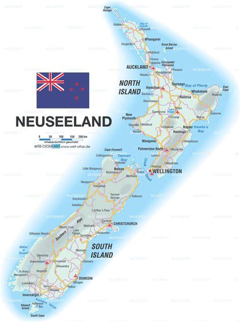 karte von neuseeland neuseeland karte auf welt atlas