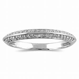 14 Carat Diamond Knife Edge Wedding Band In 10K White