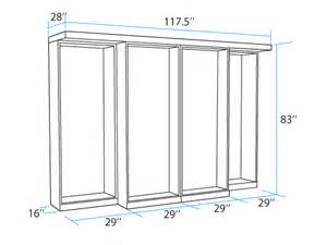 Queen Murphy Bed Kit by Library Dimensions Murphy Beds Portland