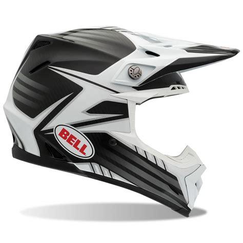 white motocross helmet bell moto 9 carbon fibre pinned white black motocross
