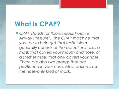 what is the use of how does a cpap machine work