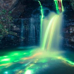 beautiful neon waterfall lights facebook cover places