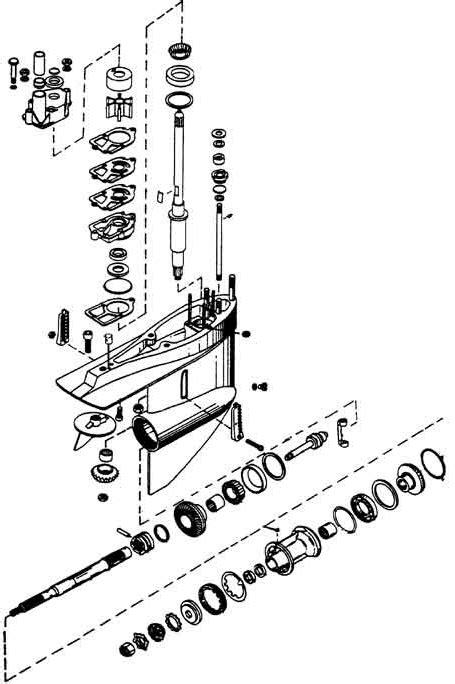 Mercruiser Lower Unit Diagram by Mercruiser Sterndrive Lower Unit Gear Housings Bearings