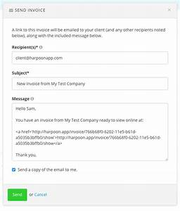 form of invoice hardhostinfo With how to send invoice to client