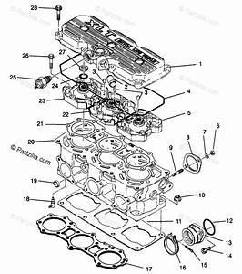 Polaris Snowmobile 1996 Oem Parts Diagram For Cylinder Xlt