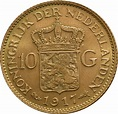 Buy Gold Dutch 10 Guilder Coin | BullionByPost® - From £208