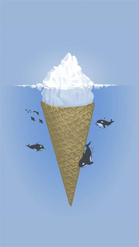 minimal iceberg  whales iphone wallpaper iphone