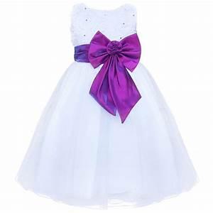 efe fille princess robe de mariage ceremonie enfant jupe With robe mariage bebe