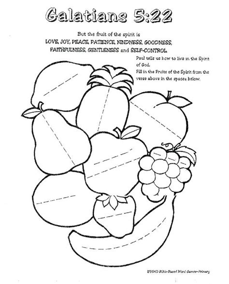 fruit of the spirit worksheet fruit of the spirit ideas
