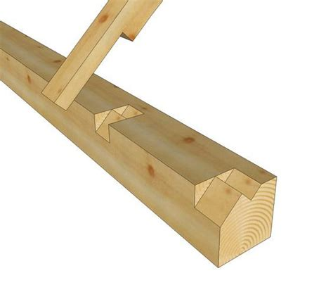 step lap rafter seat  timber frame plate woodworking