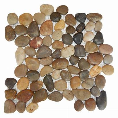 Polished Pebble Rounded Mosaics Mixed Pebbles Matte