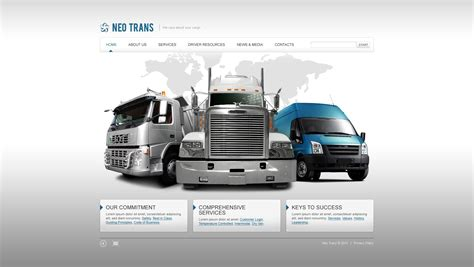 transport website template transportation flash template 29732