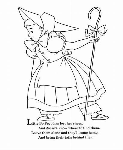 Peep Bo Coloring Nursery Rhymes Goose Mother