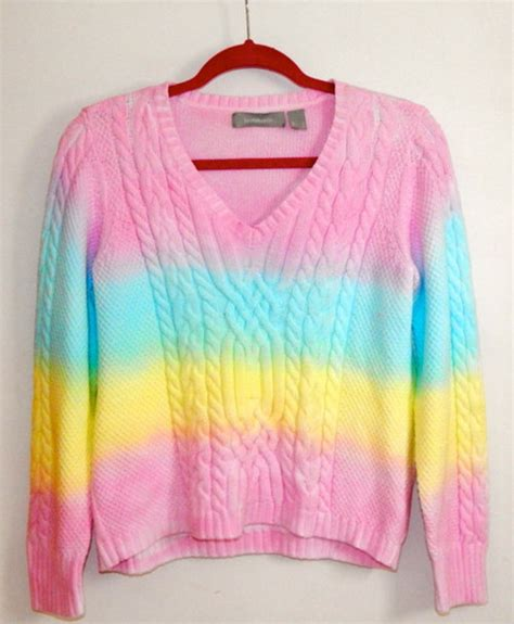 Sweater Dip Dyed Pastel Tie Dye Clothes Hipster