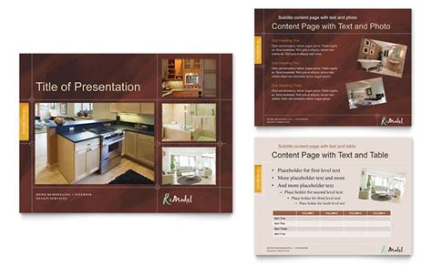 home remodeling powerpoint  template design
