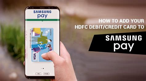 So, make sure you pay the bills timely as it impacts your relationship. How to Add your @HDFC_bank debit/credit card to Samsung Pay. #HDFCBankCardsOnSamsungPay - YouTube