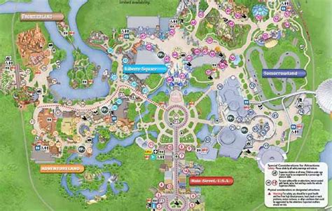 disney maps  maps  disney theme parks resort maps