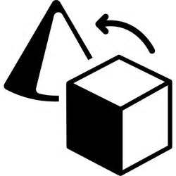 Outline of Geometric Shapes Cube