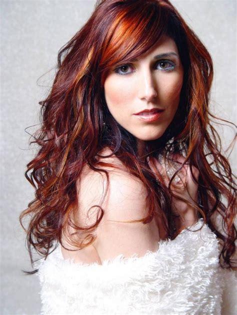 dark brown red hair fashion trends styles